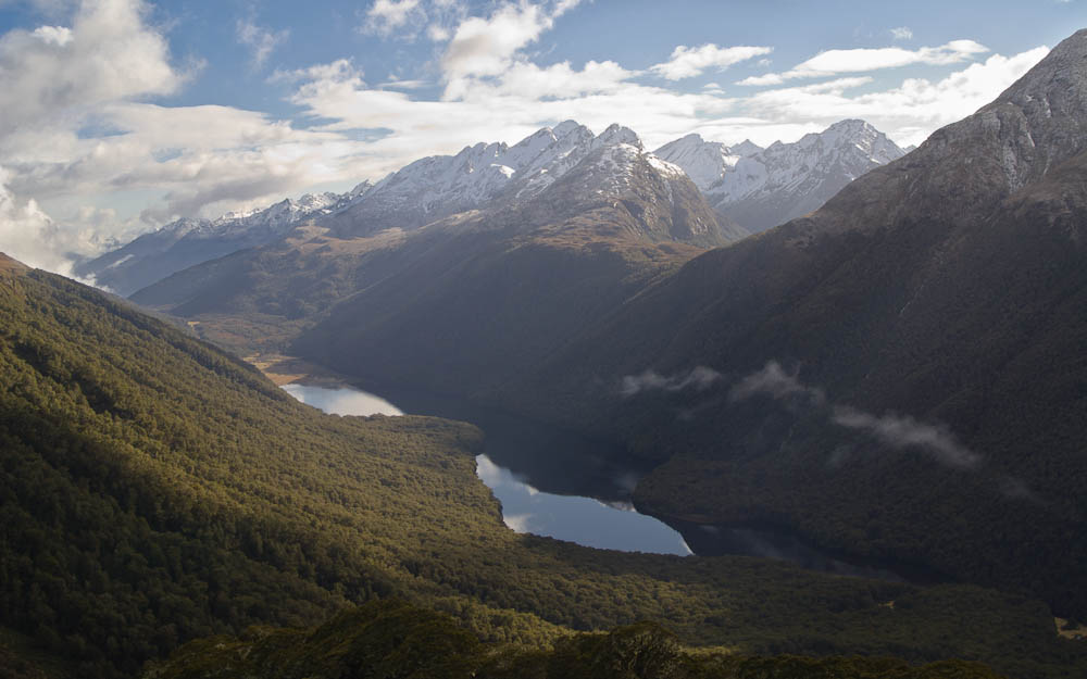 Lake McKellar and McKellar Saddle, Fiordland, New Zealand
