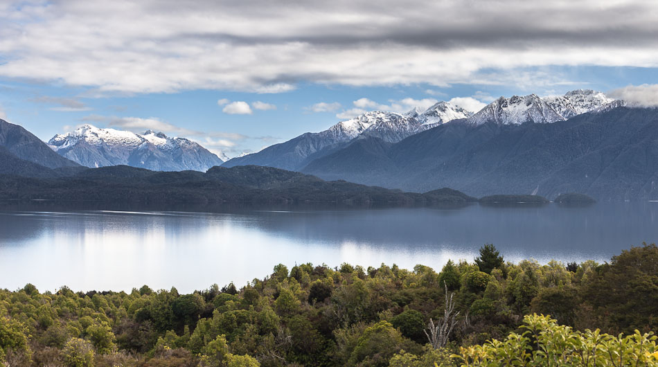 Lake Te Anau, Kepler and Murchison Mts, Fiordland, New Zealand