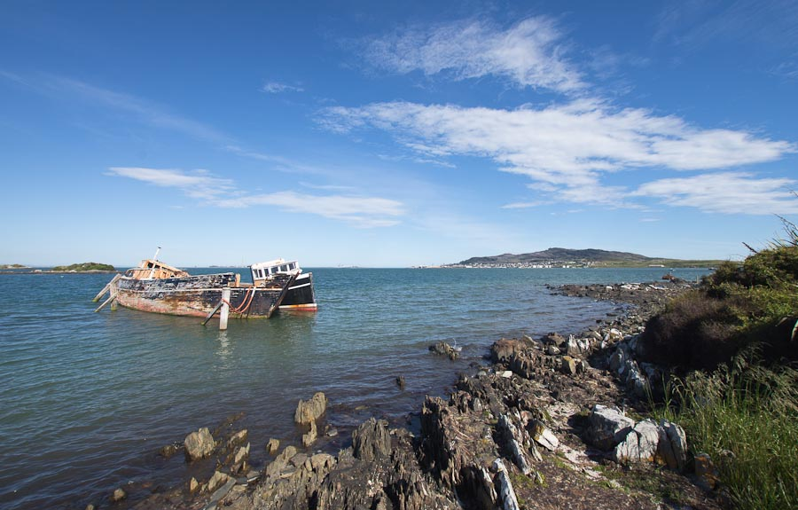 Ship graveyard, Greenpoint, Bluff Harbour, New Zealand
