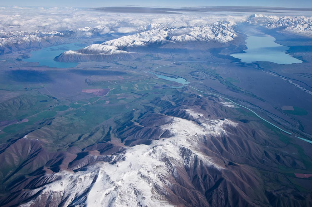 Mackenzie Basin and Southern Alps, New Zealand