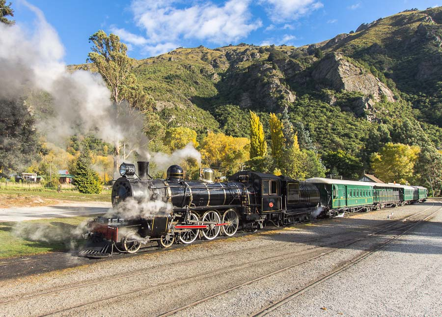 Kingston Flyer at Kingston railway station, New Zealand