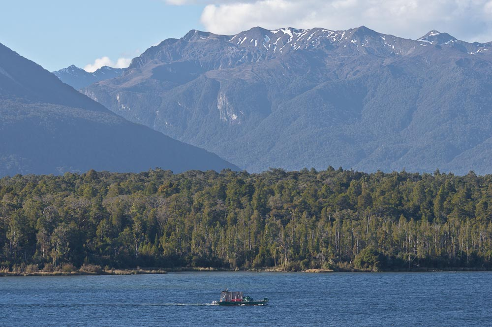 Barge in Boat Harbour, Te Anau Downs, New Zealand