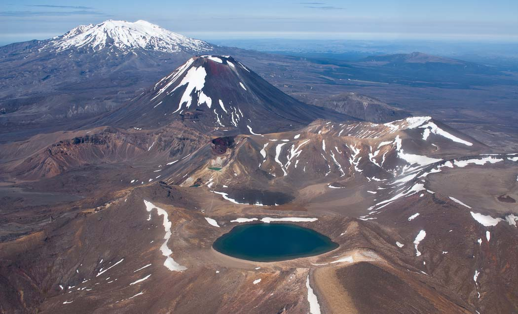 Tongariro National Park, Blue Lake in foreground, New Zealand
