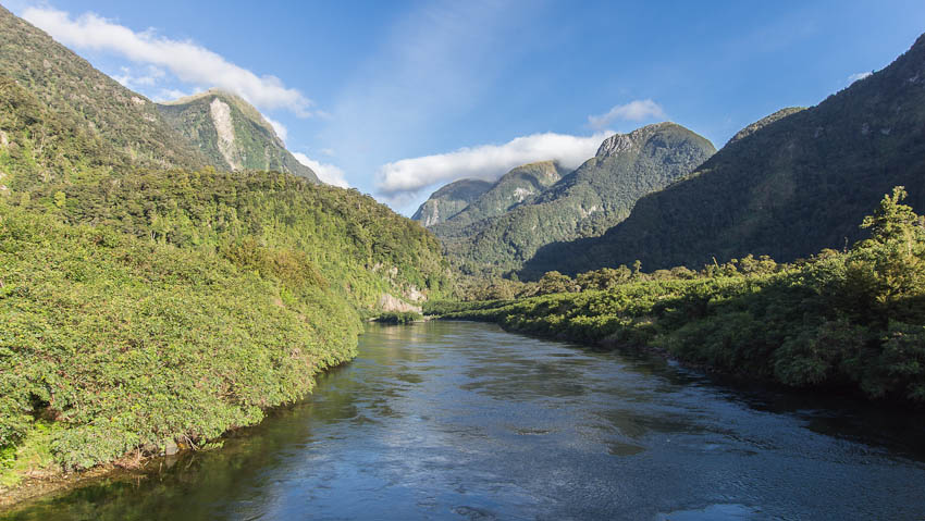 Tailrace canal, Deep Cove, Doubtful Sound, Fiordland