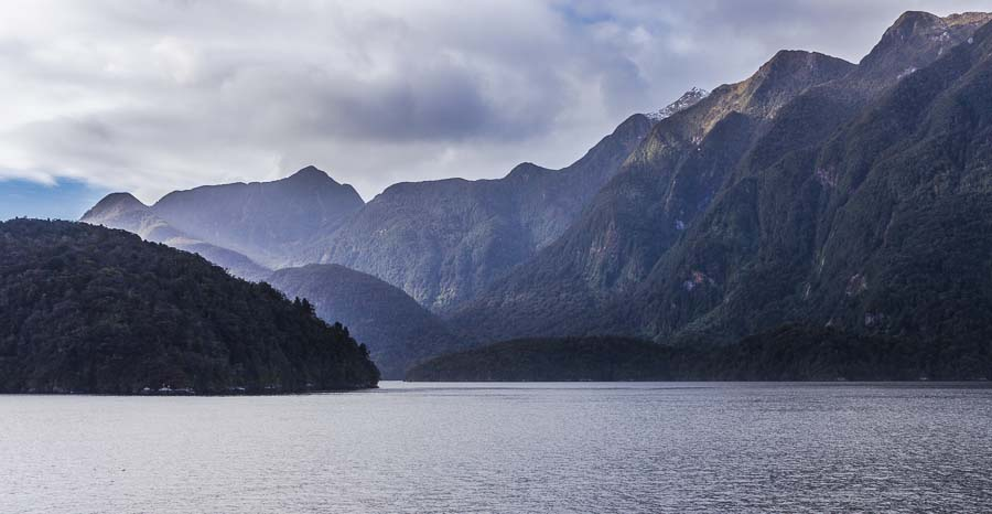 Bauza Island, Doubtful Sound, Fiordland, New Zealand
