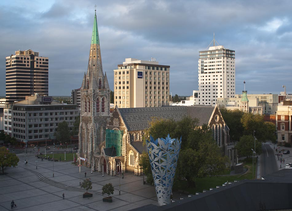View of ChristChurch Cathedral and Cathedral Square