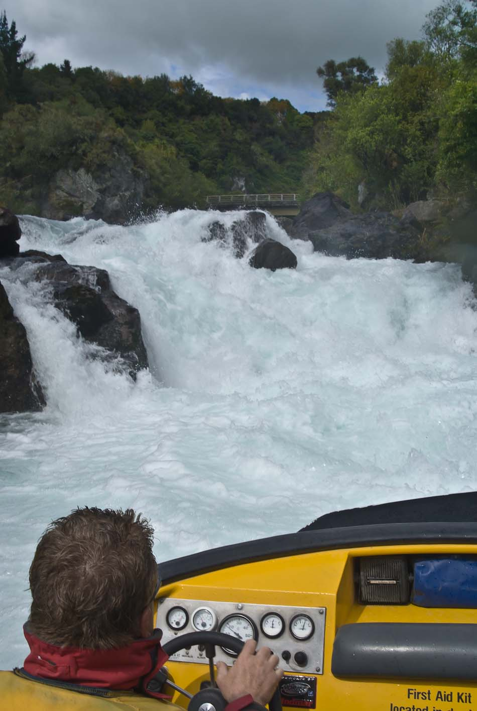 Rapids Jet - view of Aratiatia Rapids, Waikato River