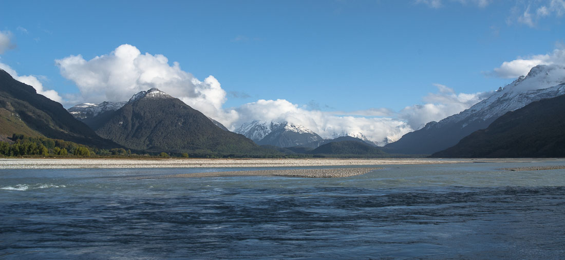 Dart River and Mt Earnslaw, New Zealand