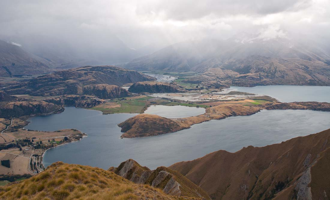 Roys Peak, view of Lake Wanaka, New Zealand