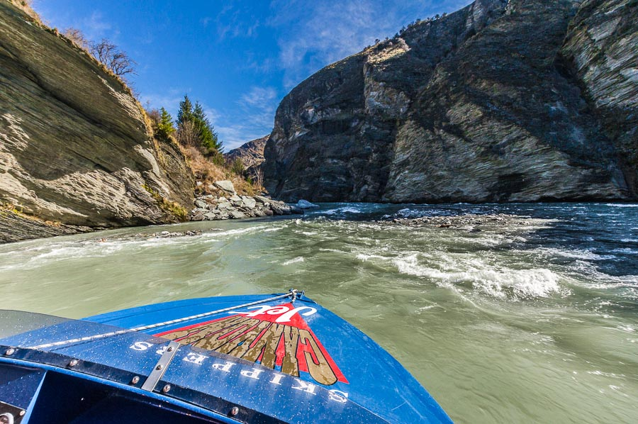 Skippers Canyon Jet on Shotover River, Queenstown, New Zealand