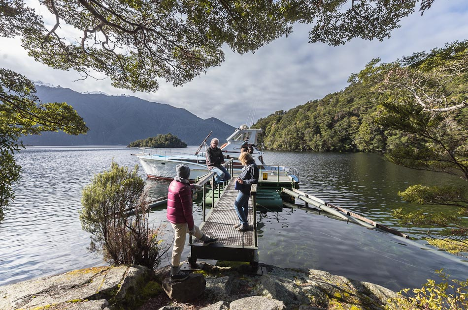 South Fiord, jetty at Mussel Cove, Lake Te Anau, Fiordland