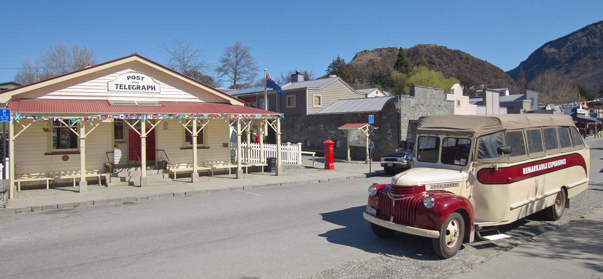 Old post office in Arrowtown, New Zealand