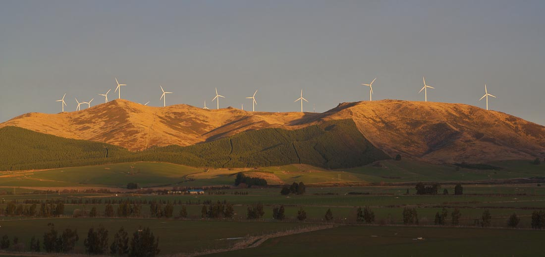 White Hill wind farm, Mossburn, New Zealand
