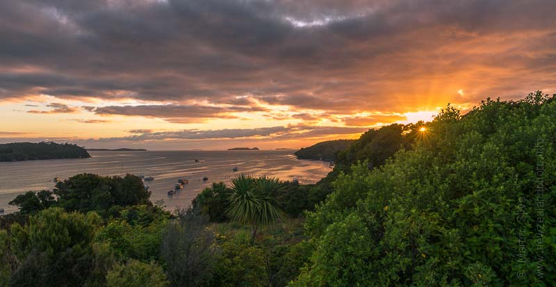 Sunrise over Halfmoon Bay, Stewart Island, New Zealand