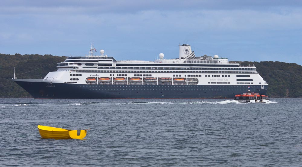 Cruise ship, Paterson Inlet, Stewart Island, New Zealand
