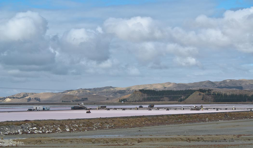 Lake Grassmere Saltworks, New Zealand