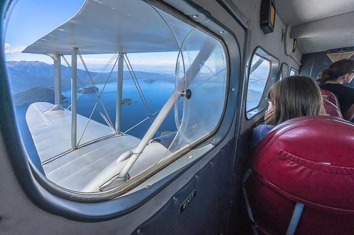 Scenic flight - activity in Fiordland - commission photography