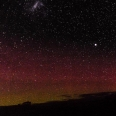Aurora Australis from Five Fingers Peninsula, Fiordland | photography