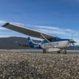 Cessna Stationair in Big Bay, Fiordland, New Zealand. | photography