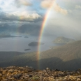 Rainbow over Lake Manapouri, Kepler Mts, New Zealand | photography