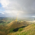 Rainbow, view from Te Mata Peak, Havelock North | photography