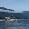 Lake Manapouri and catamaran, Fiordland, New Zealand | photography