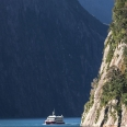 Milford Sound bounded by steep cliffs, Fiordland, New Zealand | photography