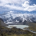 Mount Sefton and Mueller Glacier terminal lake, Mt Cook National... | photography