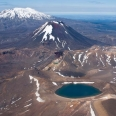 Tongariro National Park, Blue Lake in foreground, New Zealand | photography