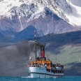 TSS Earnslaw steamer and Tooth Peak, Glenorchy, New Zealand | photography