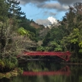 Poet's Bridge & Mt Taranaki, Pukekura Park, New Plymouth | photography