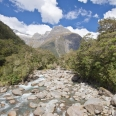Donne River with Mihj Peak, Milford Road, New Zealand | photography
