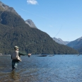 Fly fishing - North Fiord, Lake Te Anau, Fiordland | photography
