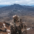 Skyline Ridge of Mt Ruapehu, view of Mt Ngauruhoe | photography