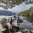 South Fiord, jetty at Mussel Cove, Lake Te Anau, Fiordland | photography