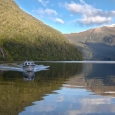 South Fiord by McKenzie Burn mouth, Lake Te Anau, Fiordland, New... | photography