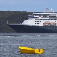 Cruise ship, Paterson Inlet, Stewart Island, New Zealand | photography