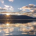 Sunset over Lake Te Anau and Kepler Mts, Fiordland, New Zealand | photography