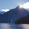 Mitre Peak and sunset, Milford Sound, Fiordland, New Zealand | photography
