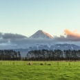 Sunset over Mount Taranaki / Egmont, New Zealand | photography